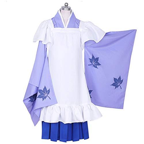 WU Megurine Luka Anime Cosplay Kostüm Mädchen Kimono-Anzug Halloween Karneval Lila Uniform,S