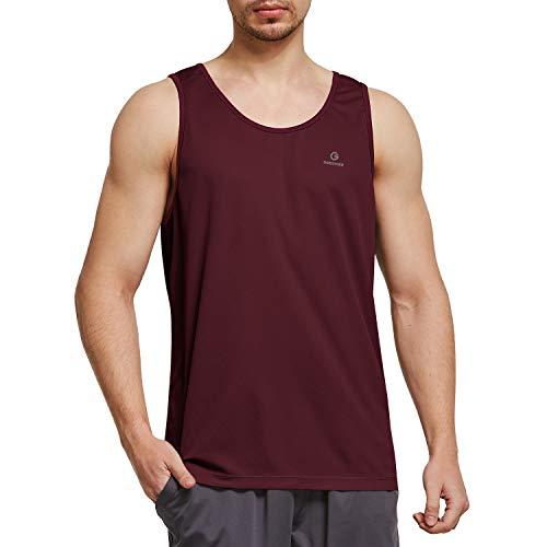 Ogeenier Herren Tank Top Sport T Shirt Sommer Tanktop Atmungsaktives Mesh Weste Trainingsshirt Funktionsshirt Unterhemd