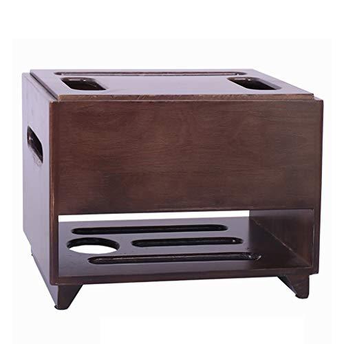 Caja de almacenamiento enrutador Conjunto de pared Conjunto de pared Rack Esquema de escritorio Almacenamiento de madera Sólido Socket Caja de acabado Punch-Free ( Color : Brown , Size : 32*22*24cm )