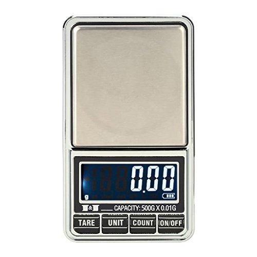 Floridivy 500g / 0.01g Mini LCD Digital Pocket schaal, schaal Sieraden Scale Precisieweegschaal elektronische weegschaal met een gewicht van gereedschap