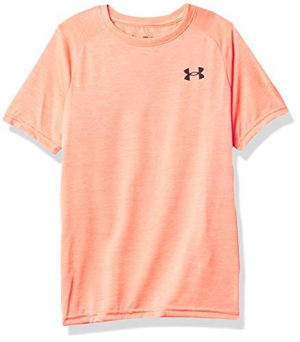Under Armour Camiseta Deportiva UA Tech 2.0 SS Transpirable y cómoda, de Manga Corta y de Secado rápido para niños, Niños, 1363284-628, Beta/Beta, Small