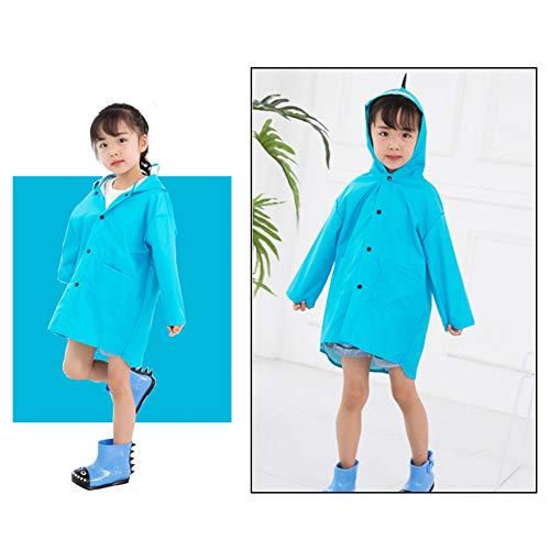 XMXWQ regenponcho waterdichte regenjas polyester doek herbruikbare regenbestendige dinosaurus stijl poncho handdoeken voor kinderen