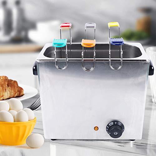 Cuecehuevos eléctrico comercial y cocedor de huevos escalfador de 30 piezas / tiempo de acero inoxidable
