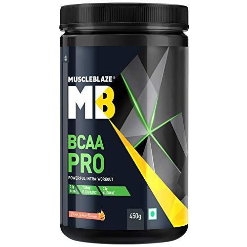 MuscleBlaze BCAA Pro Amino Acid Powder (Fruit Splash, 450 g, 30 Servings)