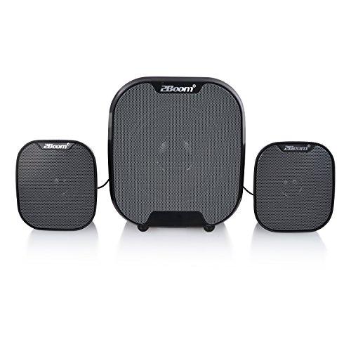2BOOM dinámico inalámbrico portátil Bluetooth 2.1Loud (Digital al Aire Libre/portátil subwoofer, Color Negro