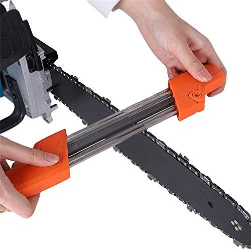 Kettensägen Schärfgerät 2 in 1, Sägezahn und Tiefenbegrenzer in Einem Arbeitsgang Bearbeiten, Kettenschärfgerät Feile 4.0/4.8/5.5 mm, Motorsäge Schärfen (4.8 mm)