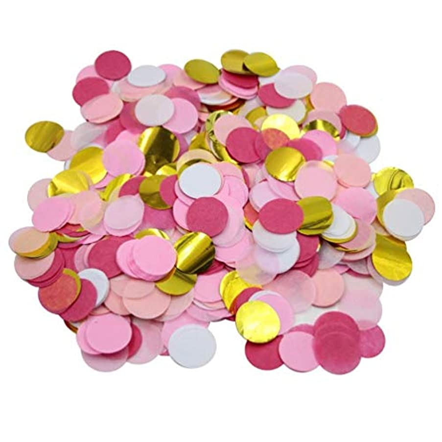 Biodegradable Paper Confetti for Holiday, Anniversary, Birthday, Graduation, Wedding, Bridal & Baby Parties (Pink)