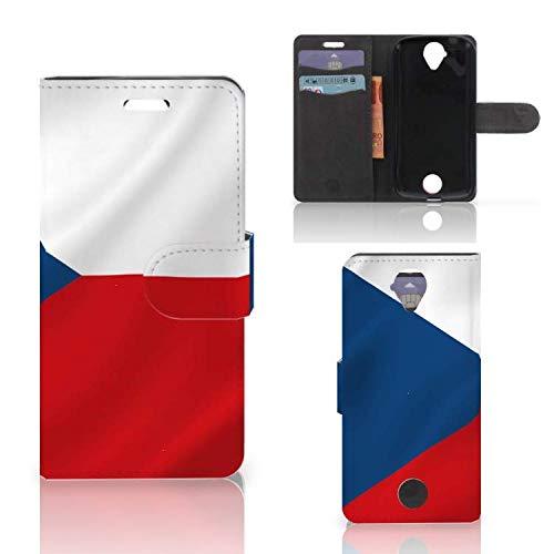B2Ctelecom Handyhüllen für Acer Liquid Z330 Kartenfach Tasche Tschechische Flagge