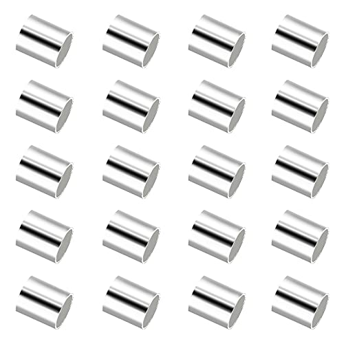 SAVITA 2000 Piezas Cuentas de Crimpado Crimp Beads Abalorios de Crimpado para Joyería Pulsera Pendiente Manualidades para Hacer Bricolaje (2mm, Silver)