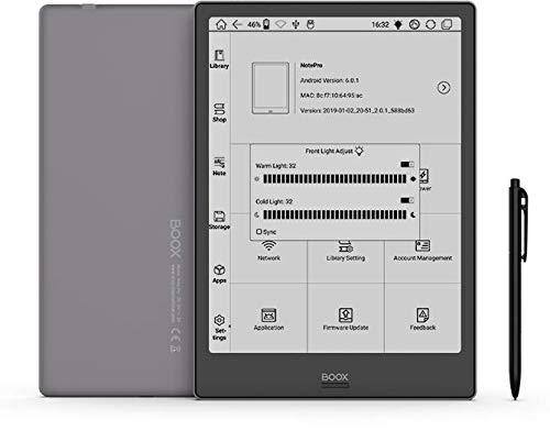 BOOX Note PRO 10.3  E-Reader, Luce Integrata, 4GB + 64GB, Android 6.0, Wi-Fi Grigio