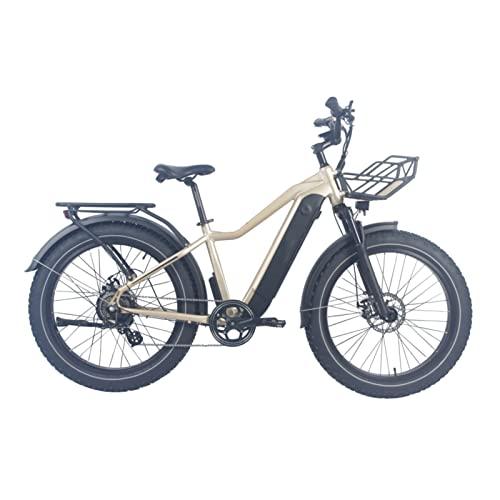 HMEI Bicicleta eléctrica para Adultos 26' Fat Tire 750W Bicicleta eléctrica para Hombre Mujer, 7 velocidades E- Bike con batería de Litio 48V 16A (Color : 48V/750W)