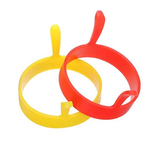 Lidylinashop Molde Huevo Frito Menaje De Cocina Huevo freír Pan Utensilios y Herramientas de Cocina Bandeja de Huevo Antiadherente Huevo escalfado Random Color,2PCS