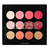 BYS Sweet Cheeks Face Palette - 12 Shades Blush and Highlight Collection Set, Complete All-day Beauty Kit