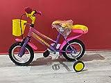CINZIA Jumpertrek Pony - Bicicleta infantil de 12 pulgadas con ruedas moradas y rosas