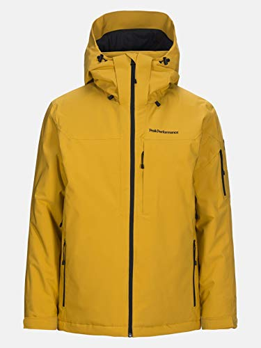 Peak Performance Maroon Jacket Smudge Yellow - M