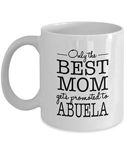 Lawenp Solo la mejor mamá es promovida a Abuela Taza de café, blanca, 11 oz - Regalos únicos