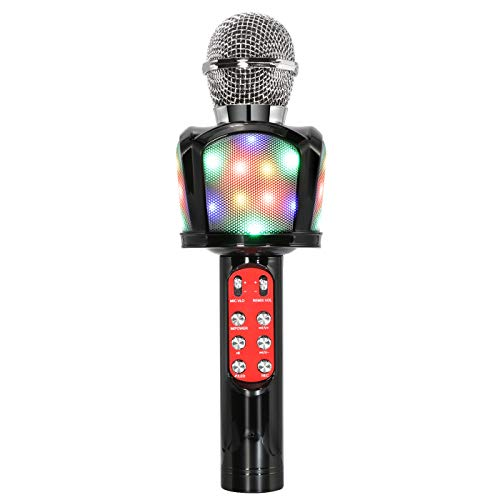 DreMir Bluetooth Karaoke Microphone Handheld Wireless Microphone Portable Speaker Suitable for All Smartphones Android/iOS 4 in 1 Suitable Birthday Gift Children Gift Family Party Small Gathering.