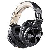 OneOdio Bluetooth 5.0 ヘッドホン 50時間連続再生 AAC対応 有線 無線 密閉型 オーバーイヤー ヘッドフォン FuSionA7 ゴールデン