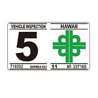 ハワイアン Hawaiian 車検 レプリカ ステッカー 5月