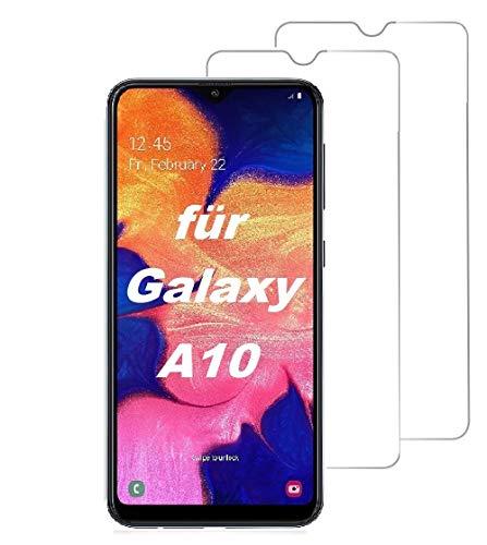 Smartphone Equipment (2er Pack) Panzerglas für Samsung Galaxy A10 Echt-Hartglas 9H Glasfolie Schutzfolie Glas Folie Panzerfolie Display Schutz