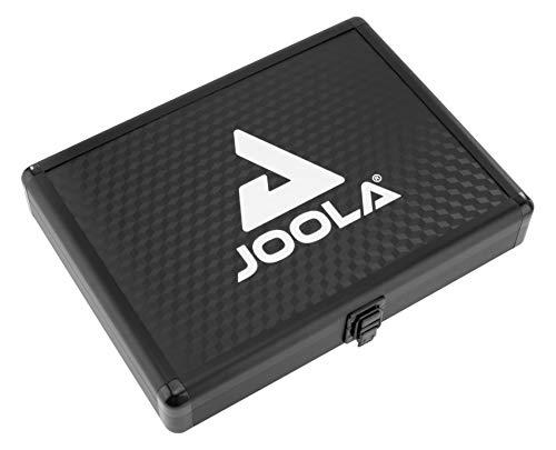 JOOLA Tischtennishülle Tischtennis-Hülle Alukoffer Schaumstoff-Inlay passend für 1 Tischtennisschläger und 3 Tischtennisbälle, Schwarz, one size