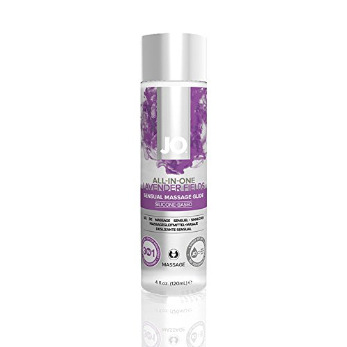 JO All-In-One Massage Glide - Lavendar (Silicone-Based) 4 fl oz / 120 ml