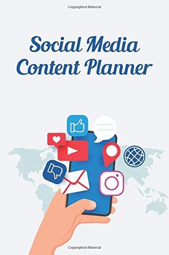 Social Media Content Planner: Social Media Marketing Organizer, Checklist & Calendar