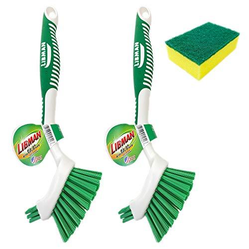Libman Big Job Kitchen Brush with Free Bonus Sponge (Pack of 2)