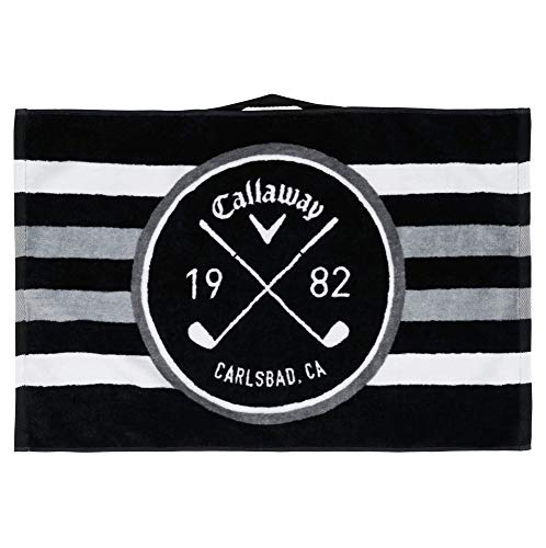 Callaway Golf 16X24 Cart Towel , Black/White/Charcoal