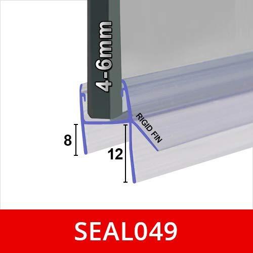 BIF027 Joint Douche Bulle Caoutchouc Noir Souple Flexible Pour Portes Pliantes Doubles Tient dans un Canal de 5/mm