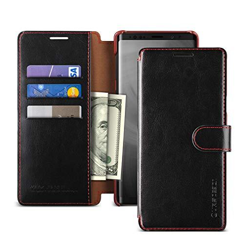 Cover Galaxy Note 9, VRS DESIGN [Nero] Custodia flip a portafoglio in pelle sintetica poliuretanica con 3 scomparti per carte...