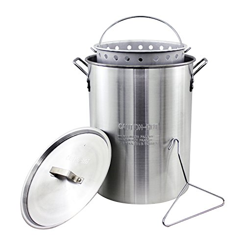 Chard ASP30, Aluminum Perforated Safety Hanger, 30 Quart Stock Pot and Strainer Basket, Original Version