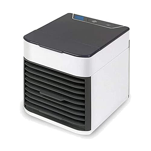 Fanático de la torre USB Enfriador de aire, Mini torre portátil Oscilación de ventiladores o función de soplo de aire frío fijo, configuración de 3 velocidades, purificador de humidificador para espac