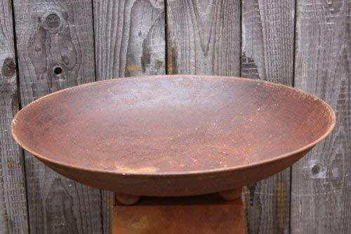 Rostikal | Edelrost Deko Schale rund, Rost Blumenschale Metall | Ø 47 cm