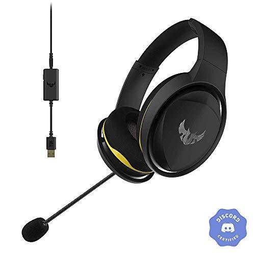 ASUS ゲーミングヘッド セット TUF Gaming H5 / H5 Discord バーチャルサラウンドサウンド,デュアルマイク付