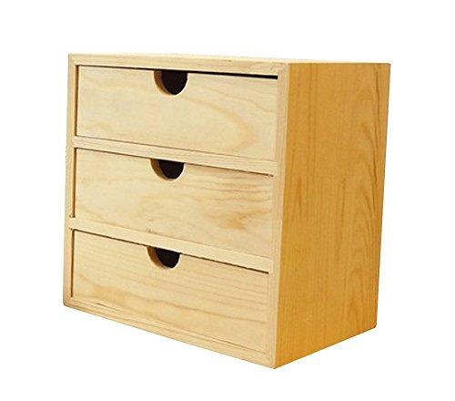 JIANGU Mesa de almacenamiento cosmético caja de almacenamiento gabinete gabinete tipo cajón...