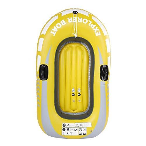 Horypt - Juego de botes hinchables para 2 personas con doble válvula para lago, pesca y costa