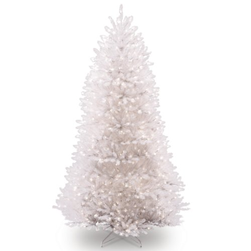 National Tree 7.5 Foot White Dunhill Fir Christmas Tree