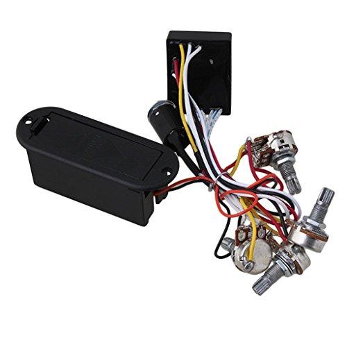 2 banda activa eq ecualizador preamplificador de circuito para guitarra eléctrica bajo