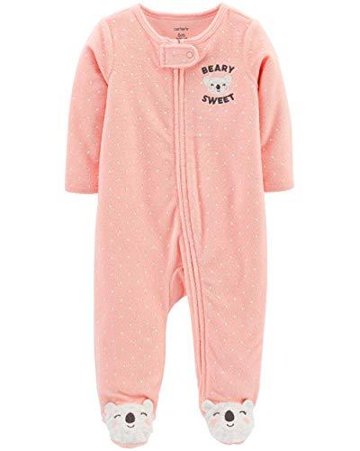 Carter's pyjama Koala badstof US Size 56 62 68 rompers baby meisjes eendelig met ritssluiting US maat 3, 6 maanden meisje