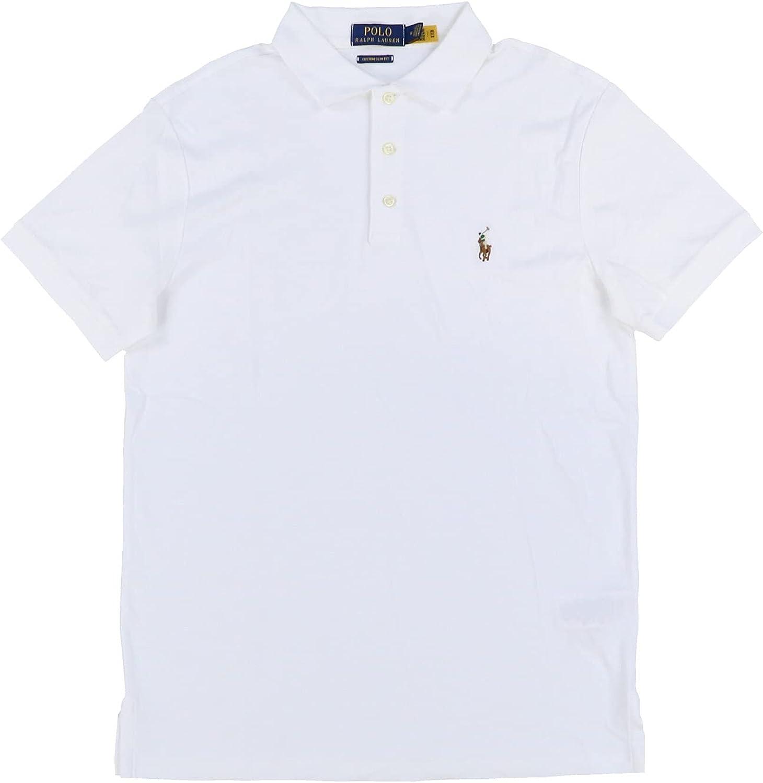 Polo Ralph Lauren Mens Custom Interlock We OFFer OFFer at cheap prices Fit Slim X-L Shirt