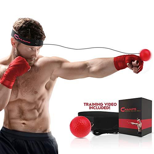 Balle de reflex pour la boxe et les arts martiaux afin d'améliorer sa vitesse de bras, son coup d'œil, et sa précision