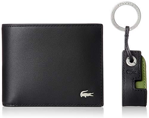 Lacoste Herren NH3288FG Reisezubehör-Brieftasche, Noir, Einheitsgröße