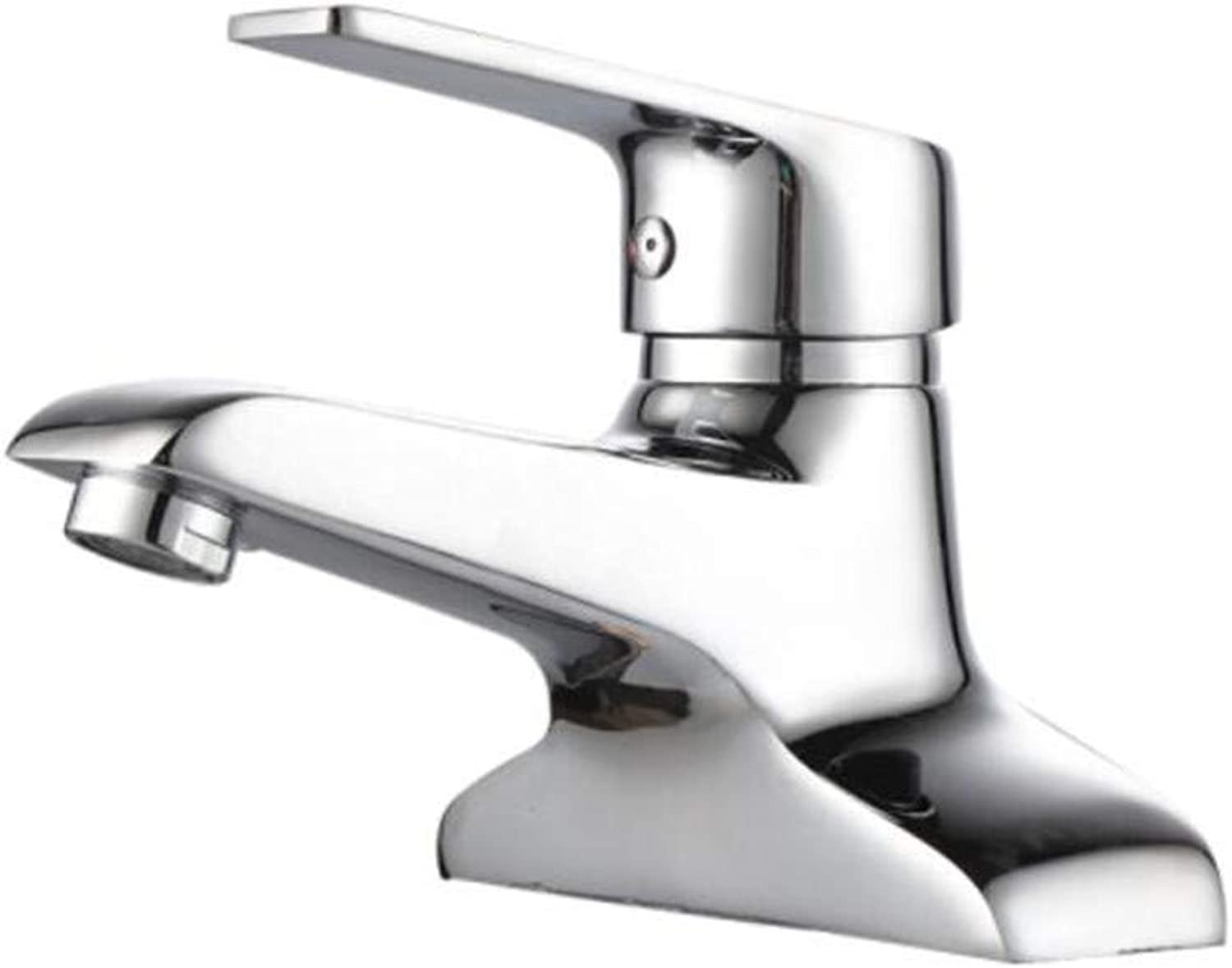 Faucet Mone Spout Basinsanitary Bathroom Double-Hole Cold and Hot Copper Toilet Basin Faucet Three-Hole Washbasin Faucet