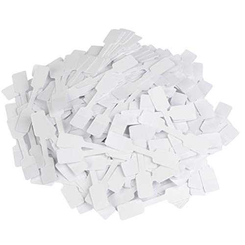 YOTINO 500 Pieces Blank Jewelry Price Tags Stickers, Jewelry Identification Stickers, White Labels for Jewelry Display, Rectangle Shape