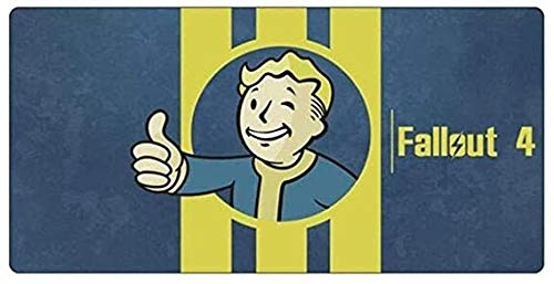 ZDVHM Large Gaming Mouse Pad Fallout 4 Extended Keyboard Mouse Mat Profession Game Mousepad Cafe Mat for Office Home Non-Slip PC Desktop Table Mice Pads (Color : E, Size : 7003003mm)