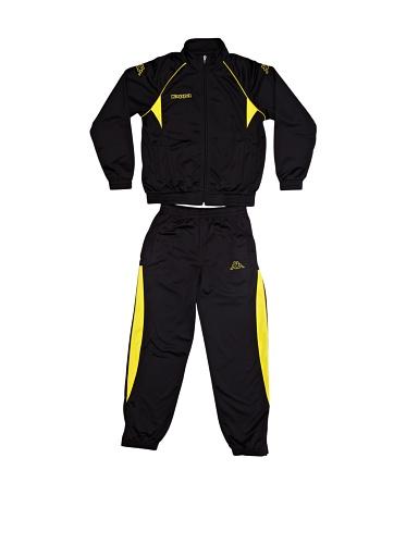 Kappa Breccia Trainingsanzug für Kinder, Kinder Größen:164, Farbe:Schwarz-Gelb