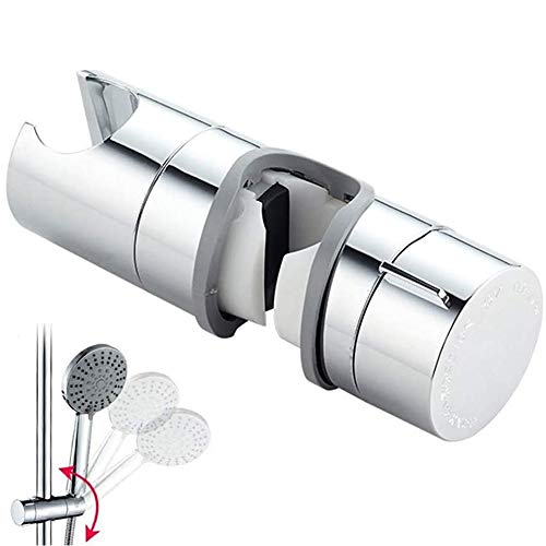THETAG Duschkopfhalterung,Handbrause Halterung 18-25 mm Verstellbar Brausehalter Duschhalterung für Handbrause oder Duschkopf für Badezimmer, 360°Drehbar(Grau)