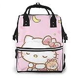 Dormir Hello Kitty Bolsa de pañales para mamá, multifunción, gran capacidad, mochila de viaje