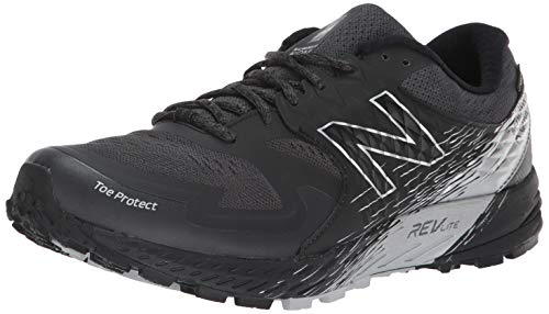 New Balance Men's Summit K.O.M. V1 Trail Running Shoe, Black/Magnet, 11 M US